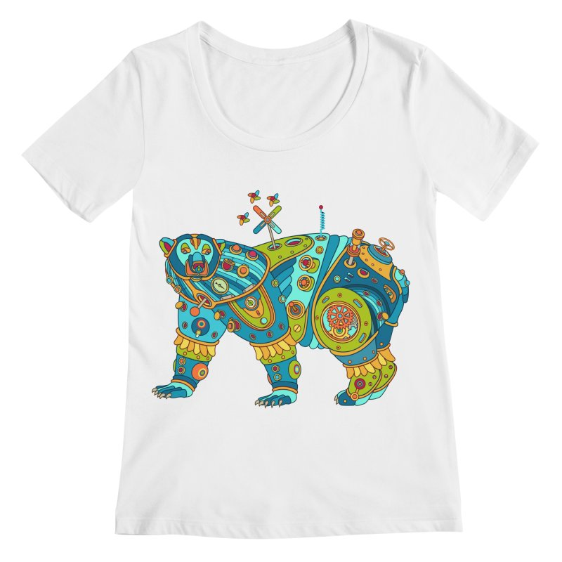 Polar Bear, cool art from the AlphaPod Collection Women's Regular Scoop Neck by AlphaPod