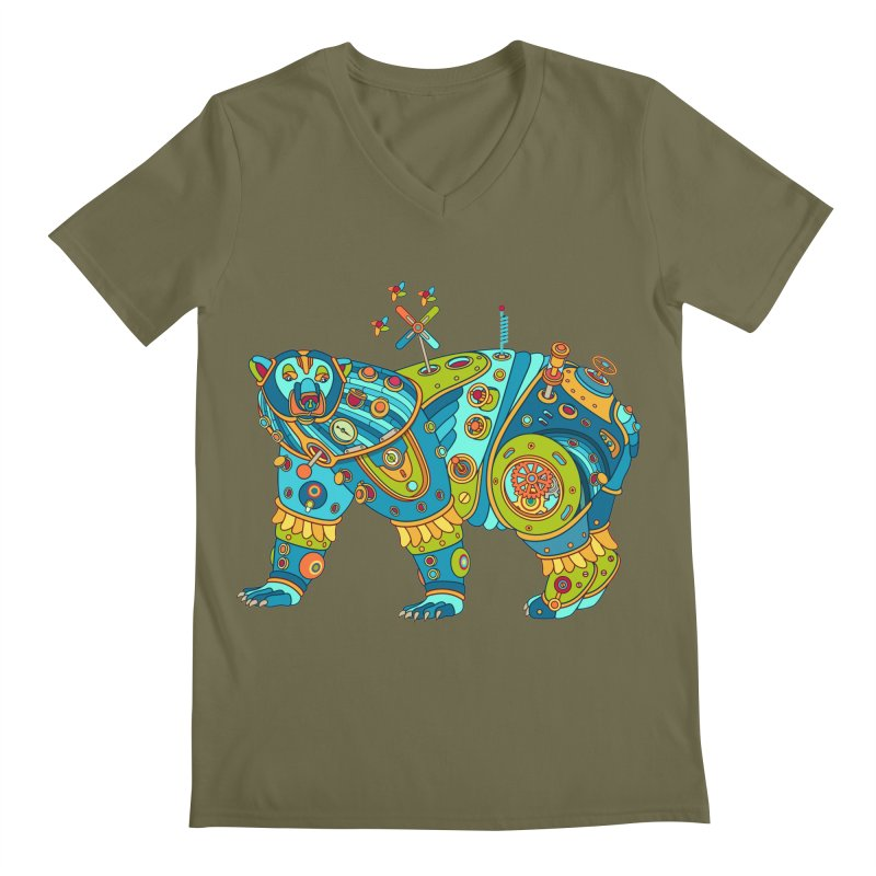 Polar Bear, cool art from the AlphaPod Collection Men's Regular V-Neck by AlphaPod