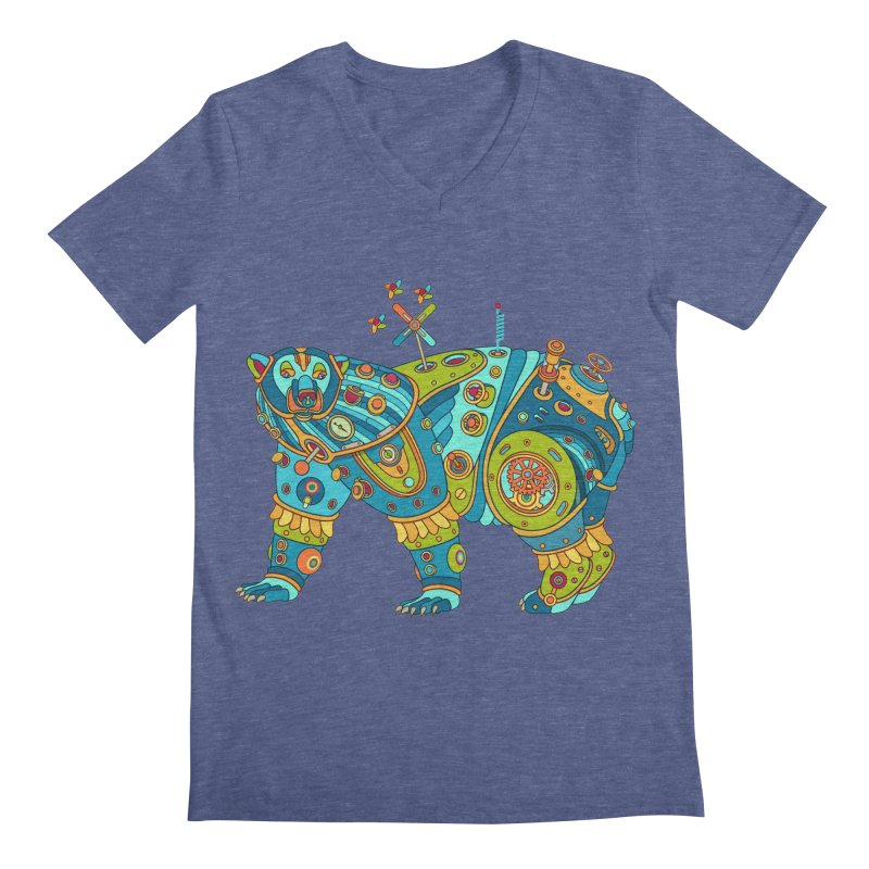 Polar Bear, cool art from the AlphaPod Collection Men's V-Neck by AlphaPod