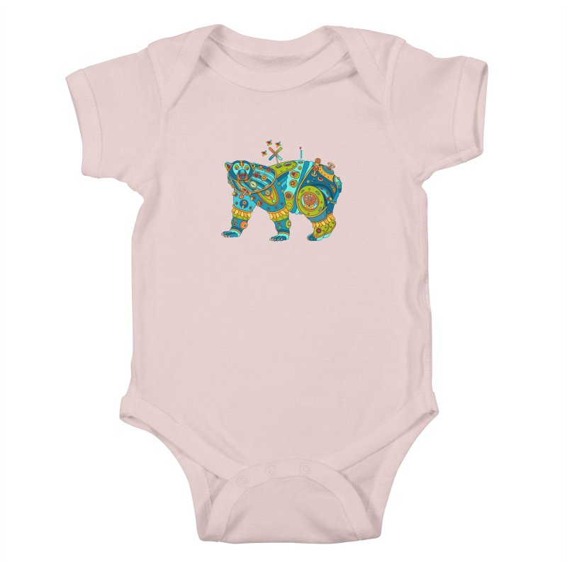 Polar Bear, cool art from the AlphaPod Collection Kids Baby Bodysuit by AlphaPod