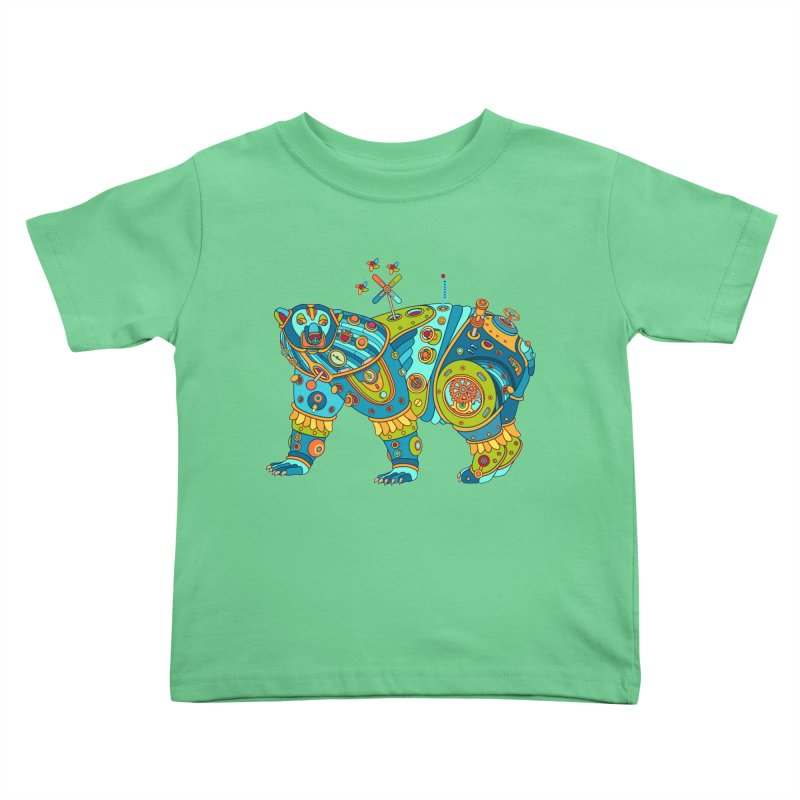 Polar Bear, cool art from the AlphaPod Collection Kids Toddler T-Shirt by AlphaPod