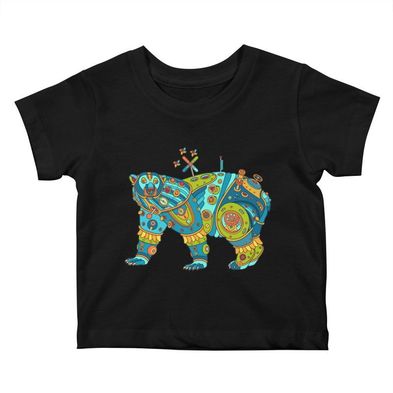 Polar Bear, cool art from the AlphaPod Collection Kids Baby T-Shirt by AlphaPod