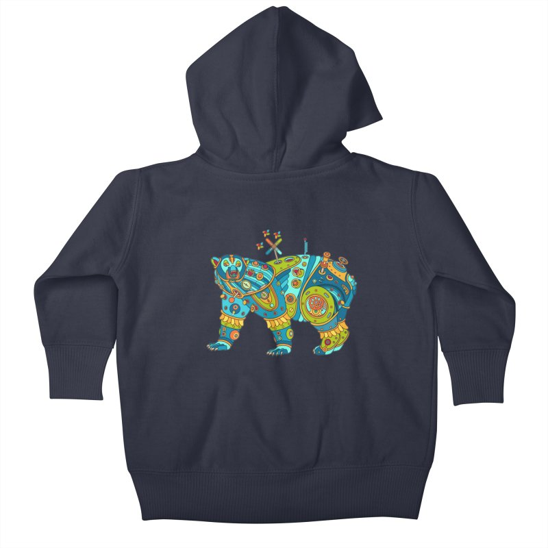 Polar Bear, cool art from the AlphaPod Collection Kids Baby Zip-Up Hoody by AlphaPod
