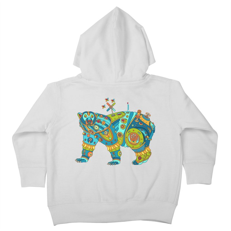Polar Bear, cool art from the AlphaPod Collection Kids Toddler Zip-Up Hoody by AlphaPod
