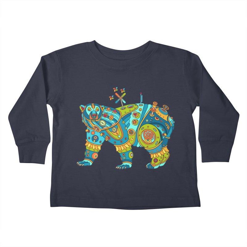 Polar Bear, cool art from the AlphaPod Collection Kids Toddler Longsleeve T-Shirt by AlphaPod