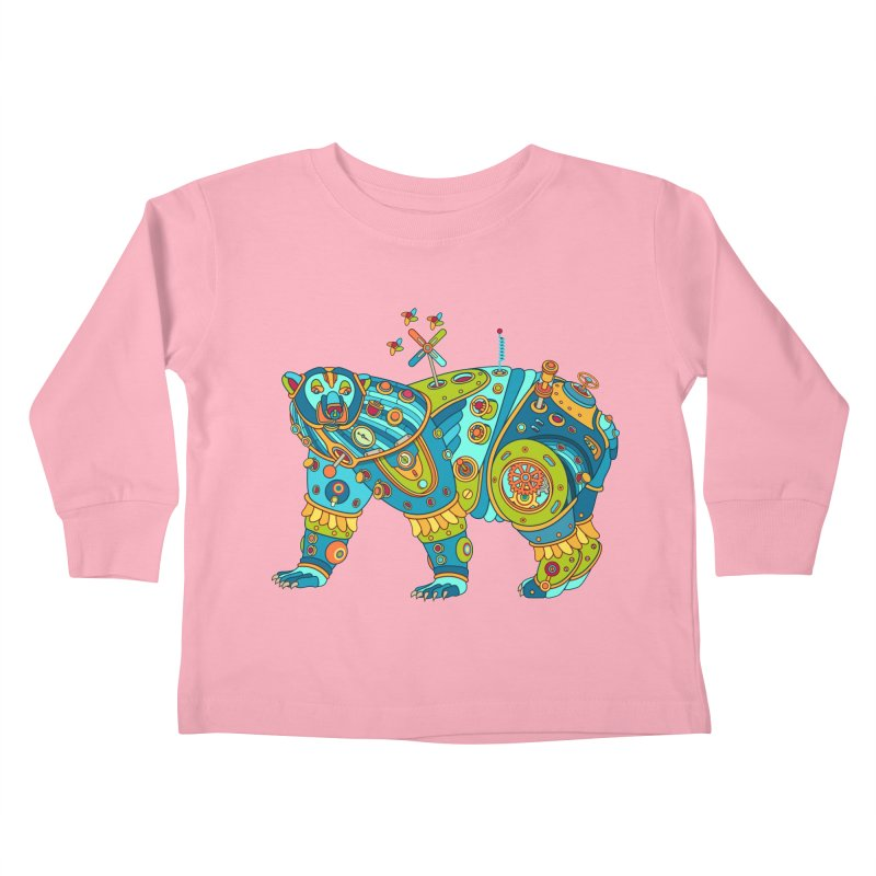 Polar Bear, cool art from the AlphaPod Collection Kids Toddler Longsleeve T-Shirt by AlphaPod