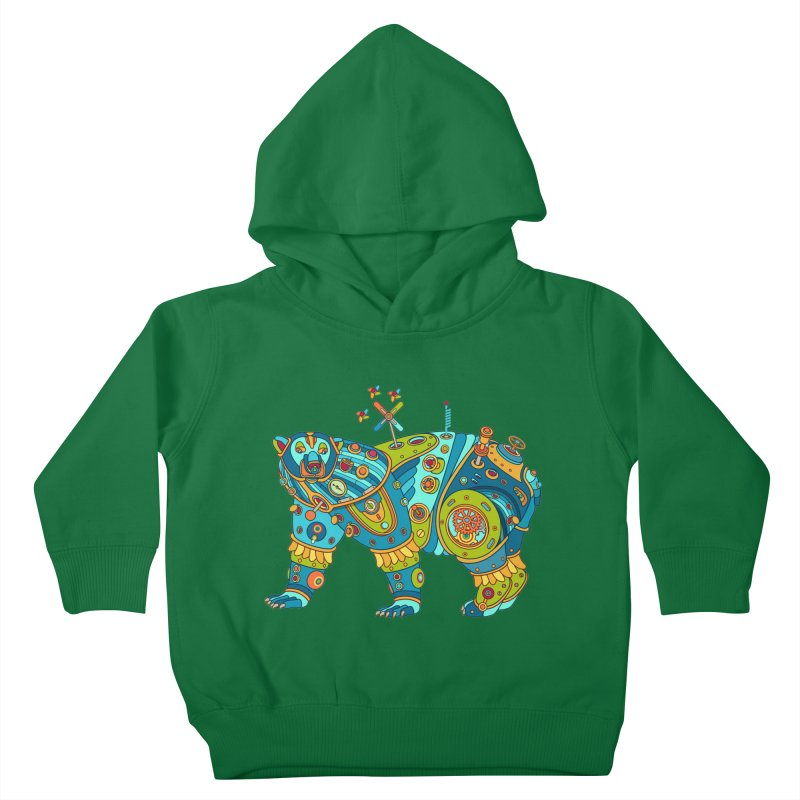 Polar Bear, cool art from the AlphaPod Collection Kids Toddler Pullover Hoody by AlphaPod