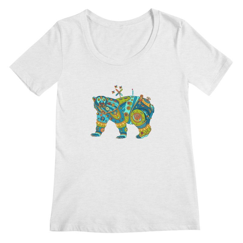 Polar Bear, cool art from the AlphaPod Collection Women's Scoop Neck by AlphaPod