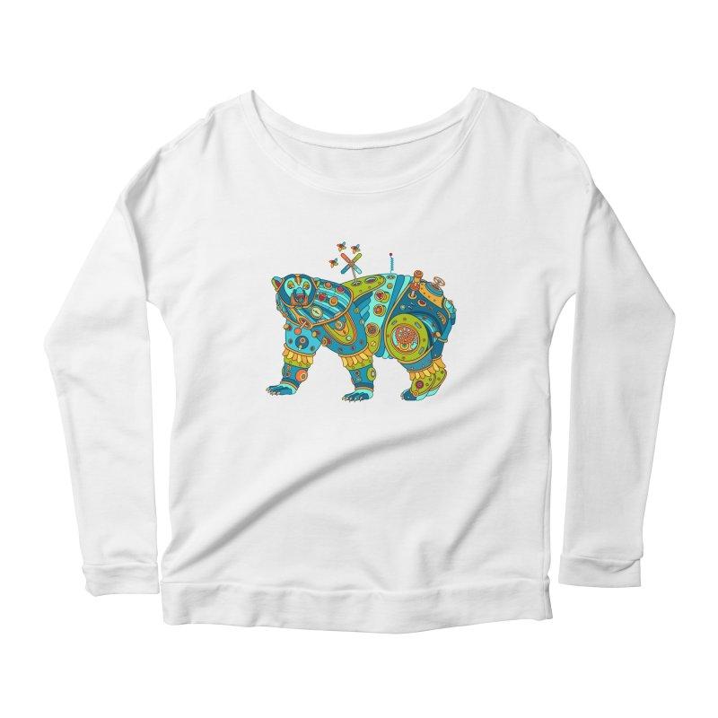 Polar Bear, cool art from the AlphaPod Collection Women's Scoop Neck Longsleeve T-Shirt by AlphaPod