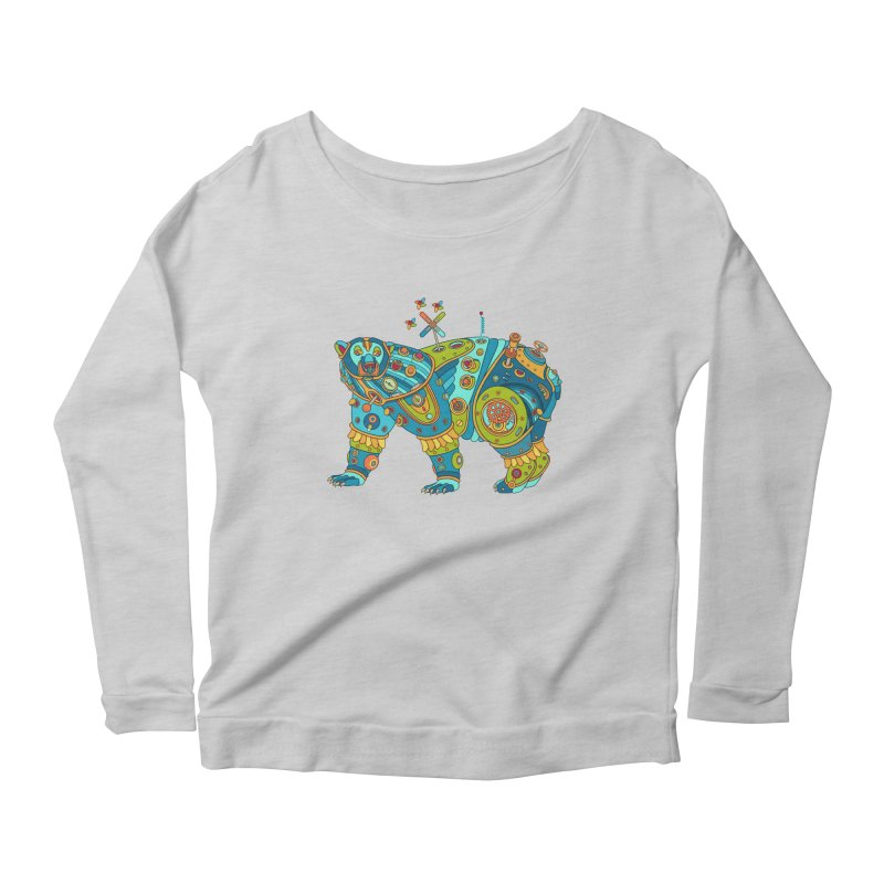 Polar Bear, cool art from the AlphaPod Collection Women's Scoop Neck Longsleeve T-Shirt by AlphaPod