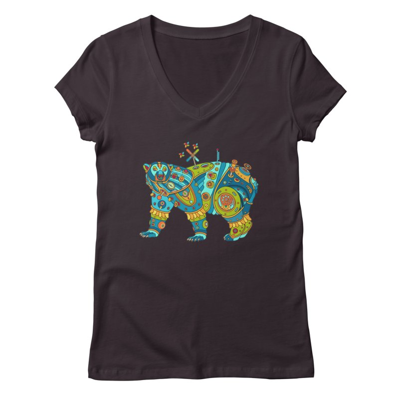 Polar Bear, cool art from the AlphaPod Collection Women's Regular V-Neck by AlphaPod