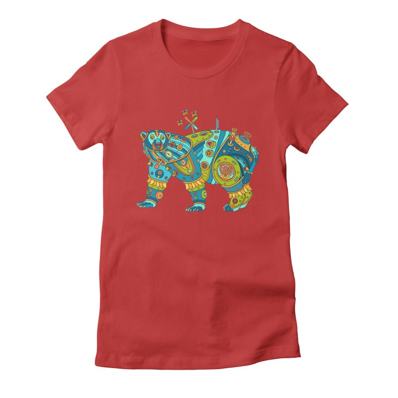 Polar Bear, cool art from the AlphaPod Collection Women's Fitted T-Shirt by AlphaPod