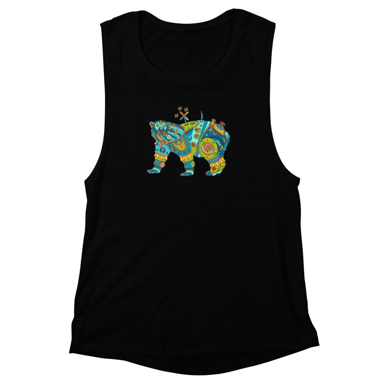 Polar Bear, cool art from the AlphaPod Collection Women's Muscle Tank by AlphaPod