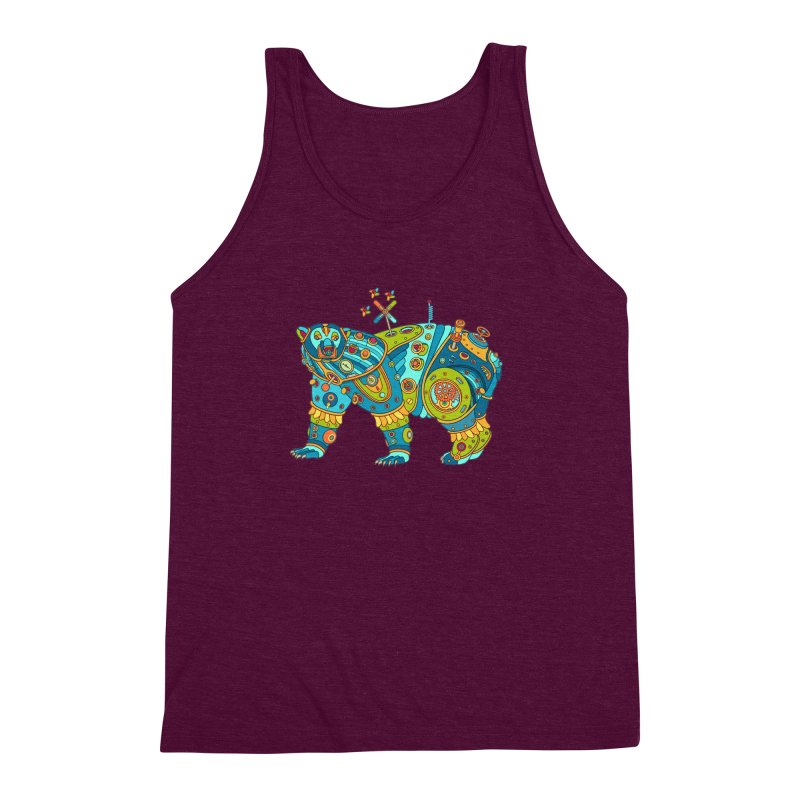 Polar Bear, cool art from the AlphaPod Collection Men's Triblend Tank by AlphaPod