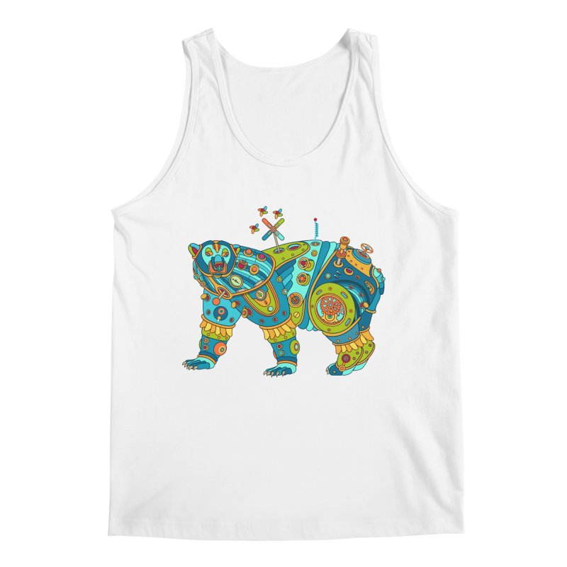 Polar Bear, cool art from the AlphaPod Collection Men's Regular Tank by AlphaPod