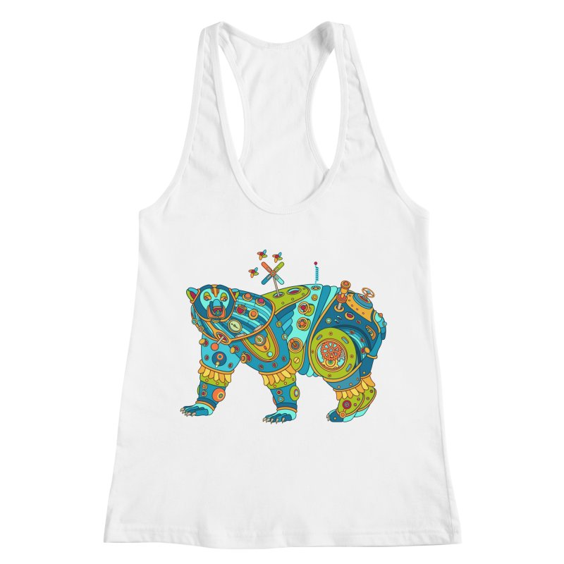 Polar Bear, cool art from the AlphaPod Collection Women's Racerback Tank by AlphaPod
