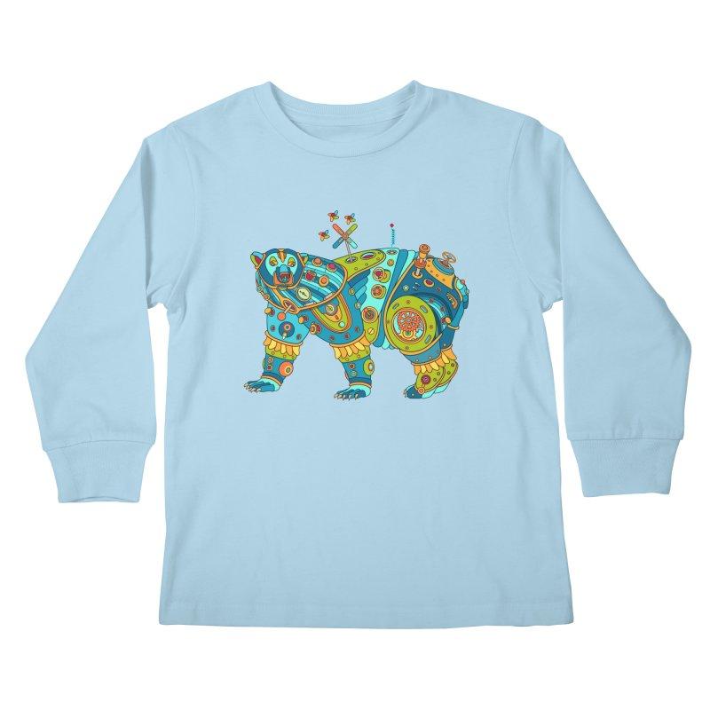 Polar Bear, cool art from the AlphaPod Collection Kids Longsleeve T-Shirt by AlphaPod