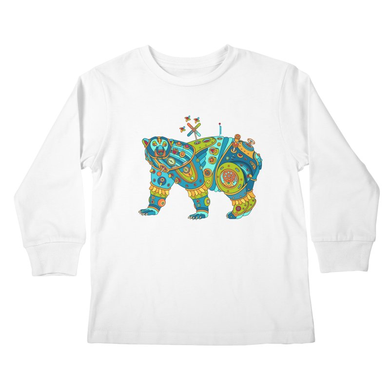 Polar Bear, cool art from the AlphaPod Collection Kids Longsleeve T-Shirt by AlphaPod