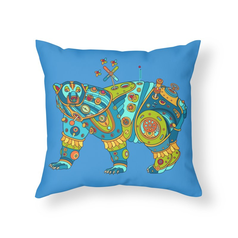 Polar Bear, cool art from the AlphaPod Collection Home Throw Pillow by AlphaPod