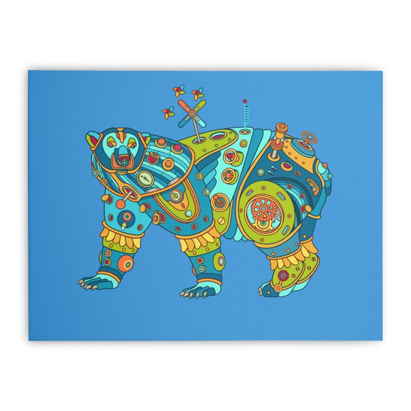 Polar Bear, cool art from the AlphaPod Collection Home Stretched Canvas by AlphaPod