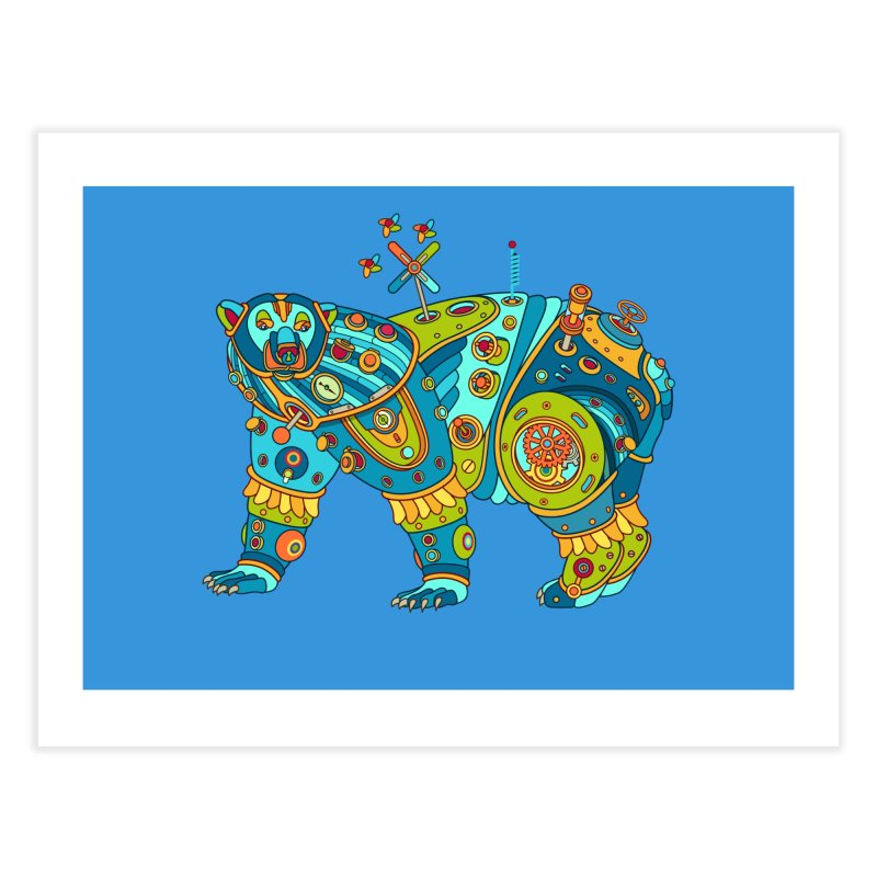 Polar Bear, cool art from the AlphaPod Collection Home Fine Art Print by AlphaPod