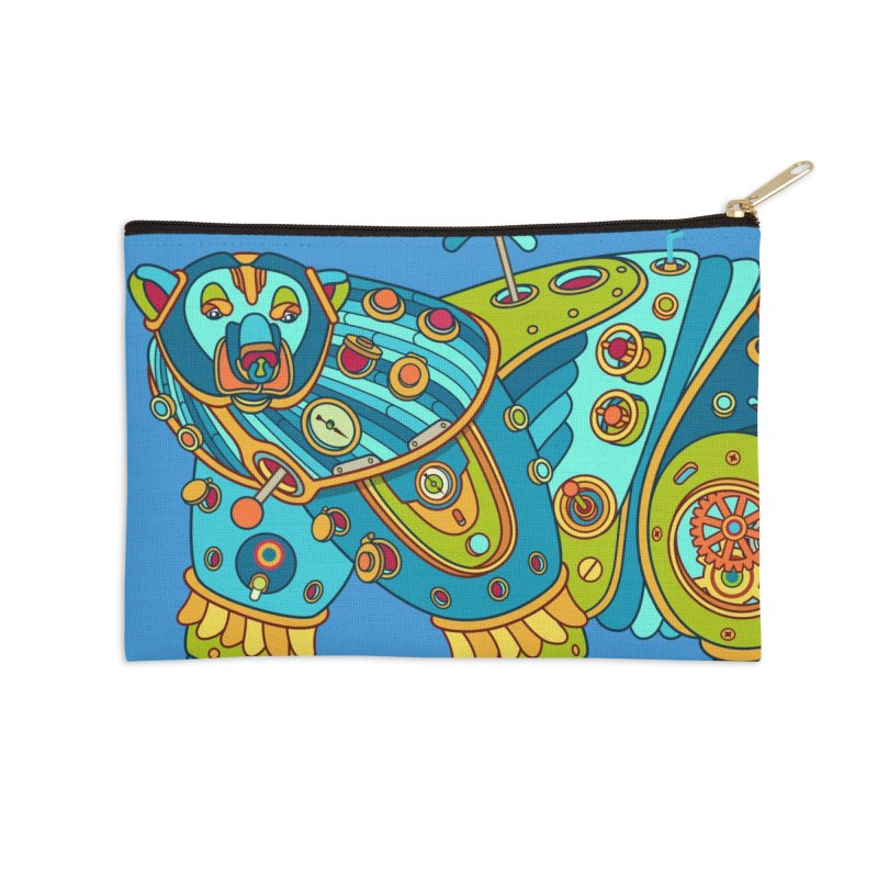 Polar Bear, cool art from the AlphaPod Collection Accessories Zip Pouch by AlphaPod