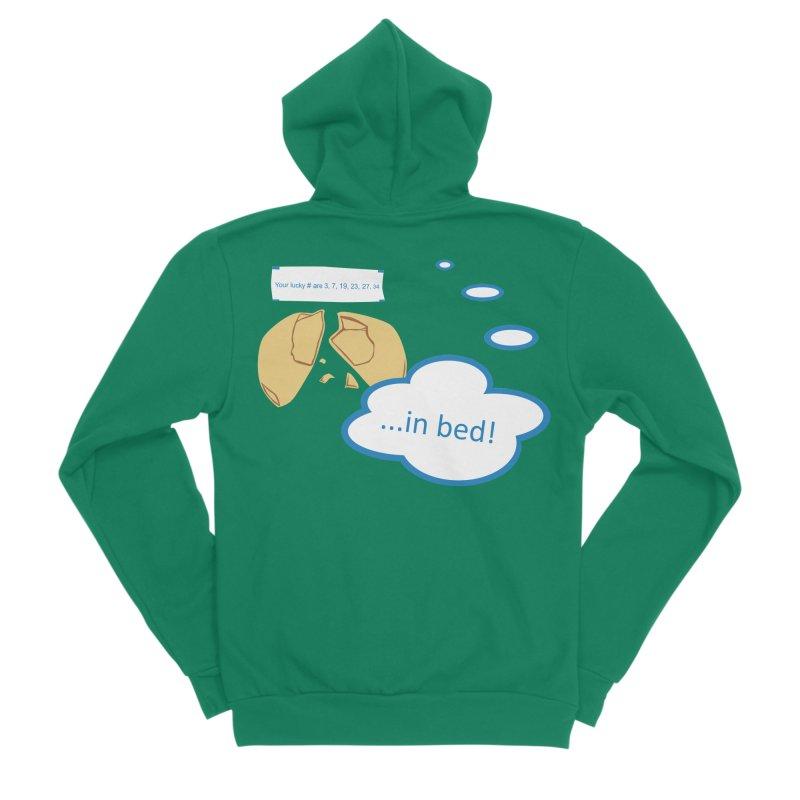Fortune Cookie Lucky #s Women's Sponge Fleece Zip-Up Hoody by Alpha Ryan's Artist Shop
