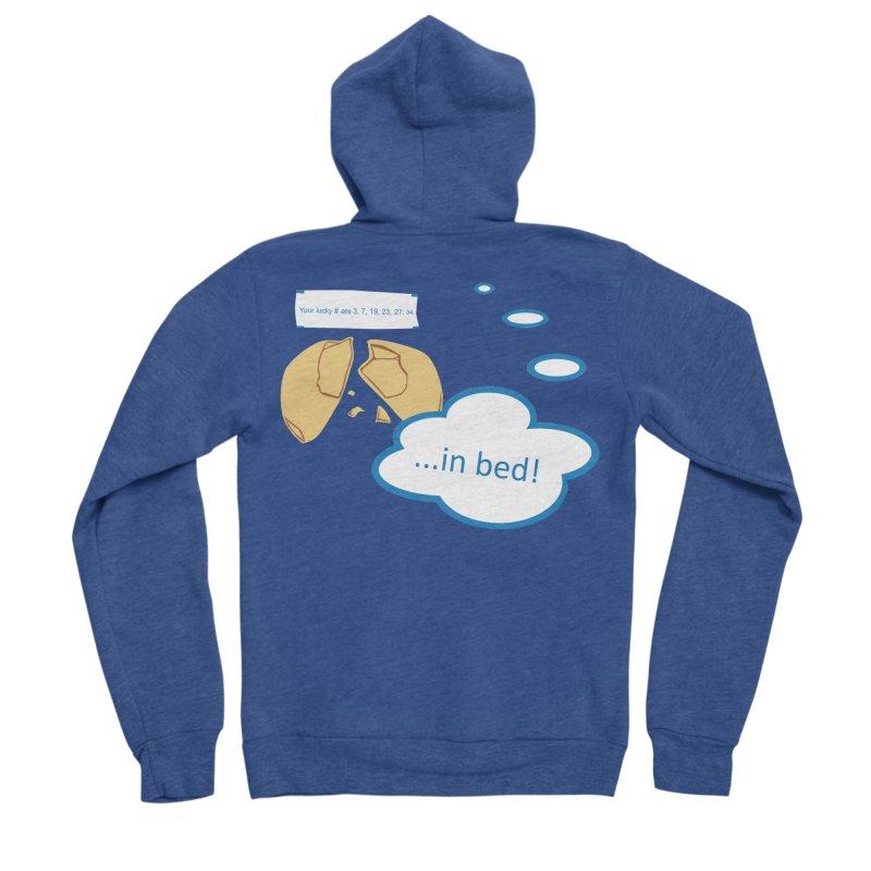 Fortune Cookie Lucky #s Men's Sponge Fleece Zip-Up Hoody by Alpha Ryan's Artist Shop