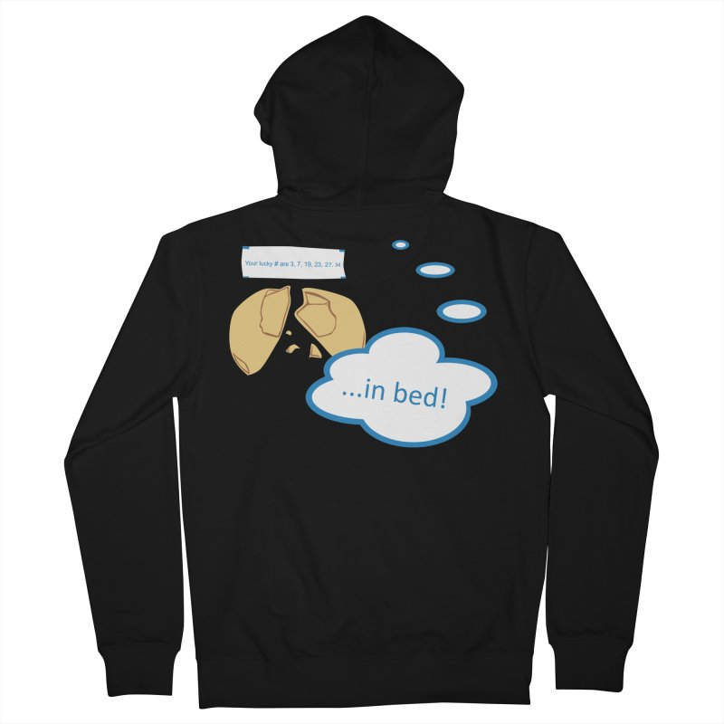 Fortune Cookie Lucky #s Men's French Terry Zip-Up Hoody by Alpha Ryan's Artist Shop