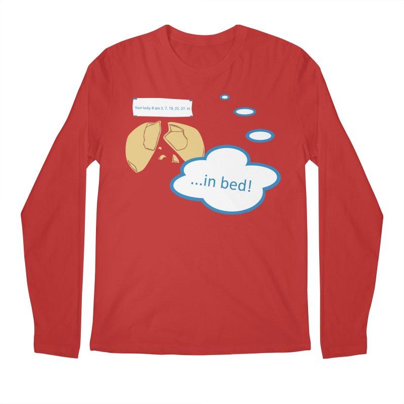 Fortune Cookie Lucky #s Men's Regular Longsleeve T-Shirt by Alpha Ryan's Artist Shop