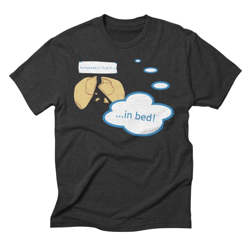 Fortune Cookie Lucky #s Men's Triblend T-shirt by Alpha Ryan's Artist Shop