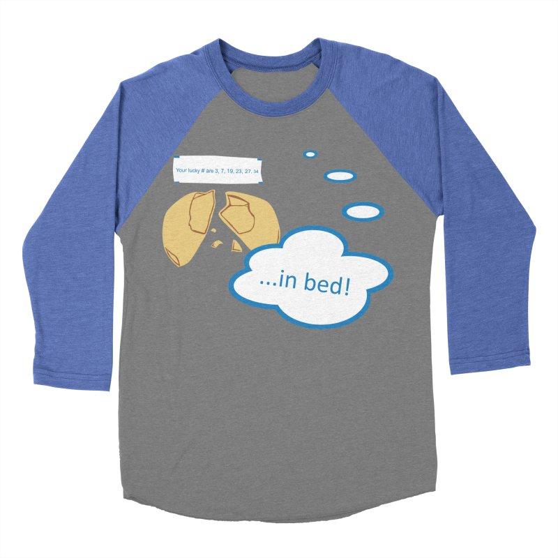 Fortune Cookie Lucky #s Men's Baseball Triblend Longsleeve T-Shirt by Alpha Ryan's Artist Shop