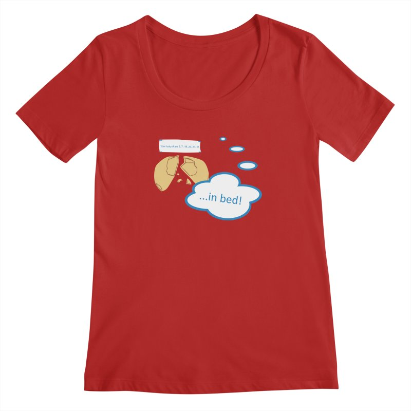 Fortune Cookie Lucky #s Women's Scoopneck by Alpha Ryan's Artist Shop