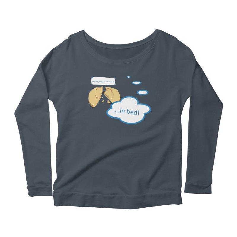 Fortune Cookie Lucky #s Women's Scoop Neck Longsleeve T-Shirt by Alpha Ryan's Artist Shop