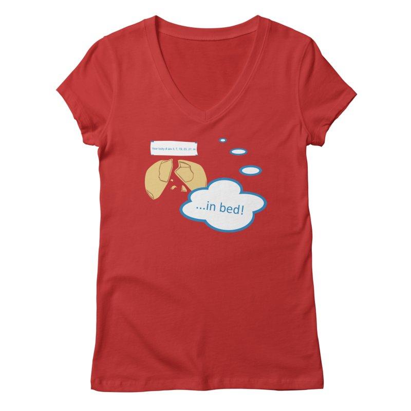 Fortune Cookie Lucky #s Women's Regular V-Neck by Alpha Ryan's Artist Shop
