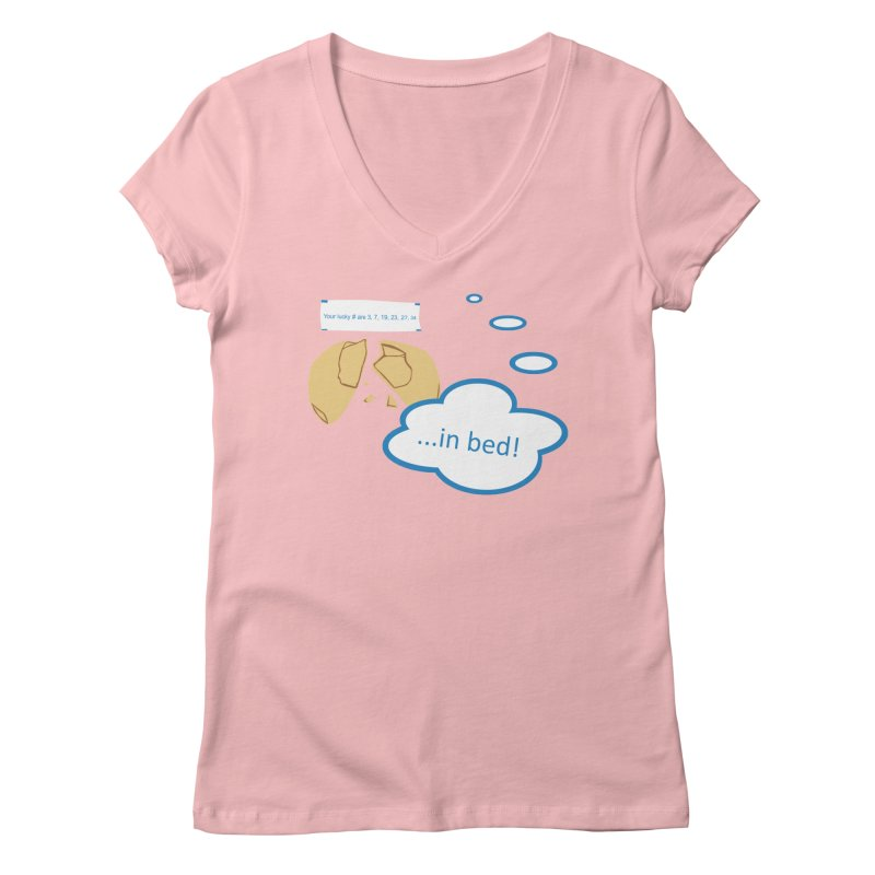 Fortune Cookie Lucky #s Women's V-Neck by Alpha Ryan's Artist Shop