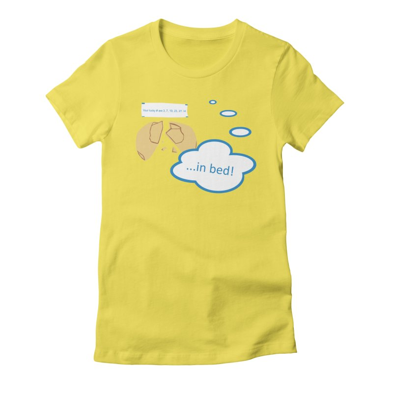 Fortune Cookie Lucky #s Women's Fitted T-Shirt by Alpha Ryan's Artist Shop