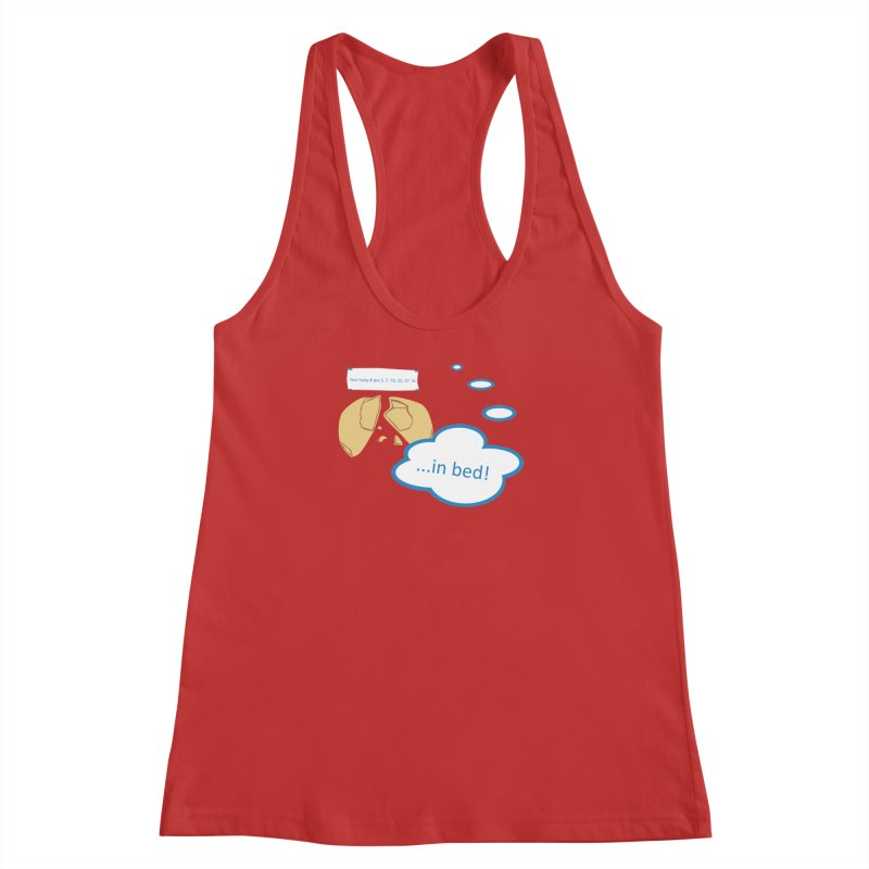 Fortune Cookie Lucky #s Women's Racerback Tank by Alpha Ryan's Artist Shop