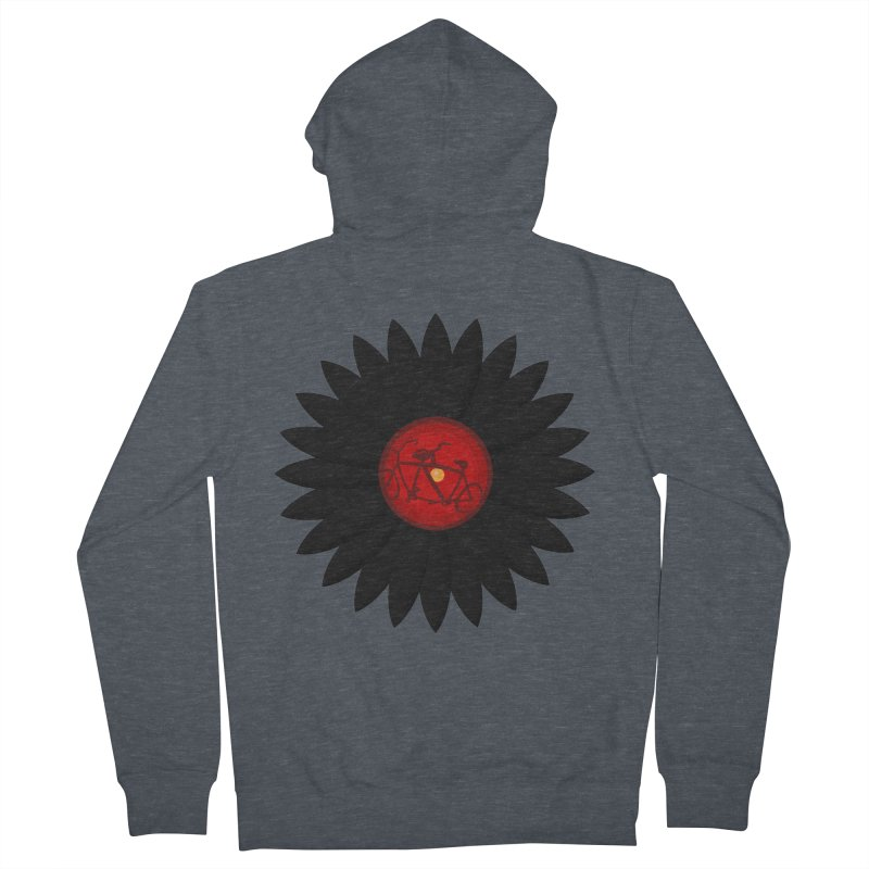 Daisy, Daisy Men's French Terry Zip-Up Hoody by Alpha Ryan's Artist Shop