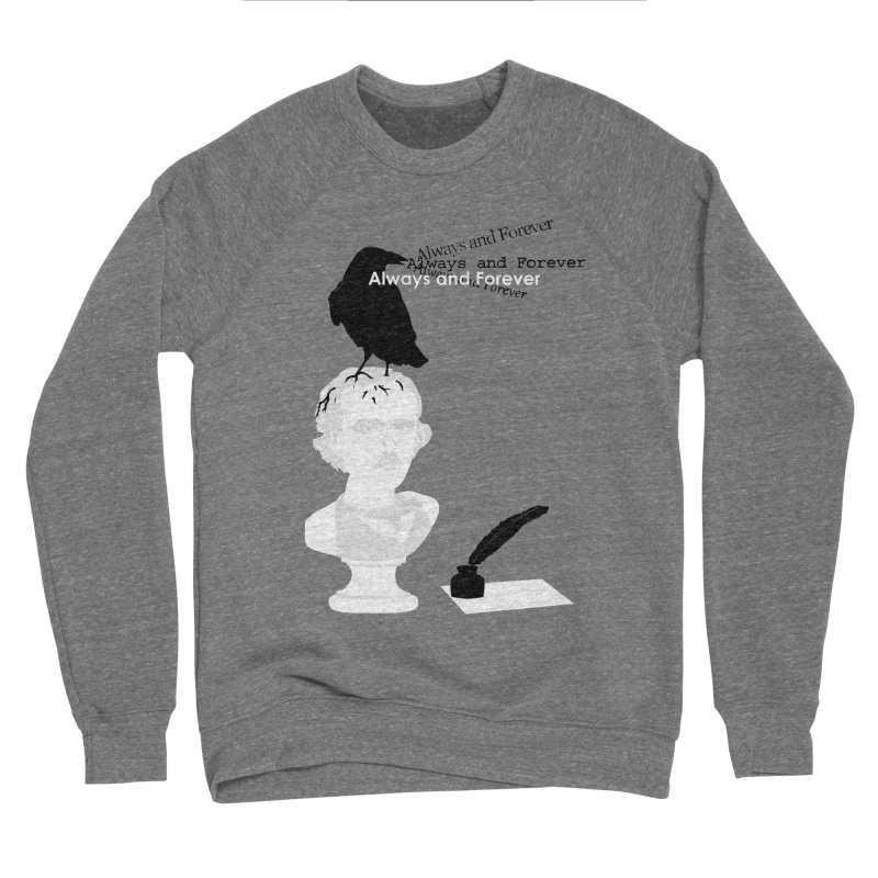 Edgar Allan Poe Men's Sponge Fleece Sweatshirt by Alpha Ryan's Artist Shop