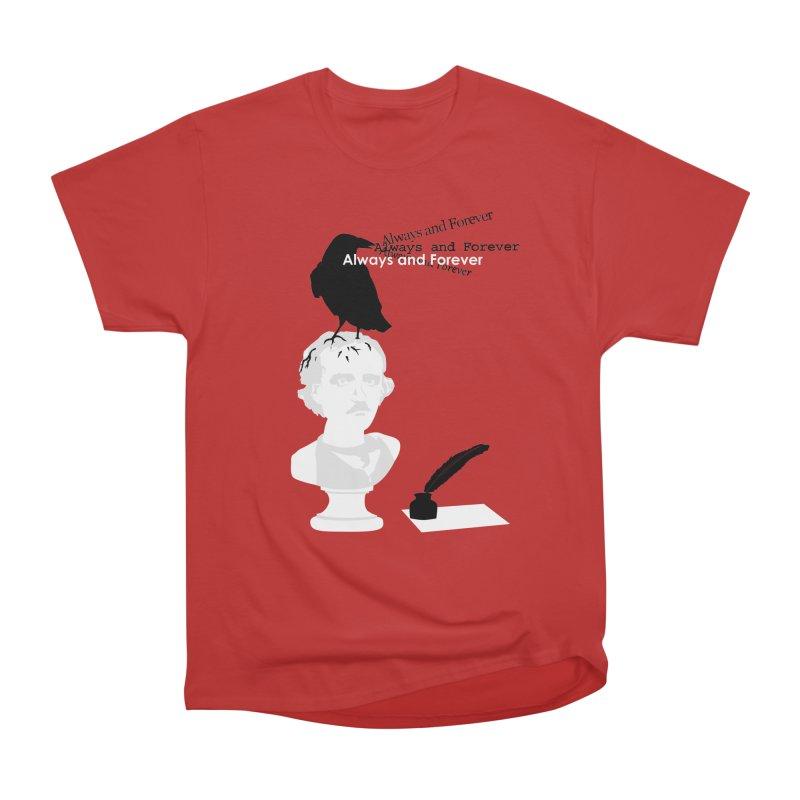 Edgar Allan Poe Women's Heavyweight Unisex T-Shirt by Alpha Ryan's Artist Shop