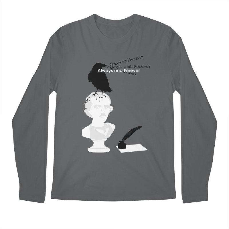 Edgar Allan Poe Men's Longsleeve T-Shirt by Alpha Ryan's Artist Shop