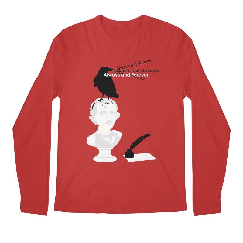 Edgar Allan Poe Men's Regular Longsleeve T-Shirt by Alpha Ryan's Artist Shop