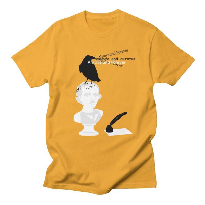 Edgar Allan Poe Men's Regular T-Shirt by Alpha Ryan's Artist Shop