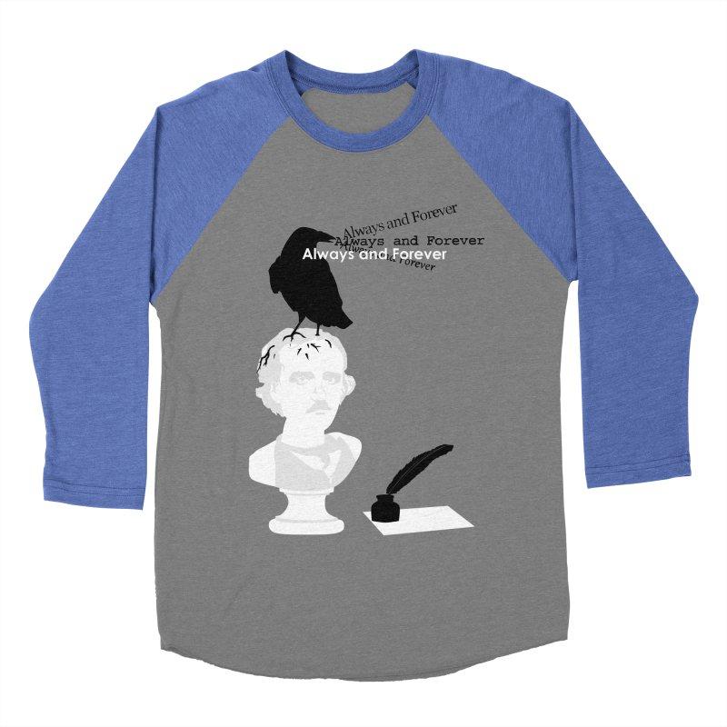 Edgar Allan Poe Women's Baseball Triblend Longsleeve T-Shirt by Alpha Ryan's Artist Shop