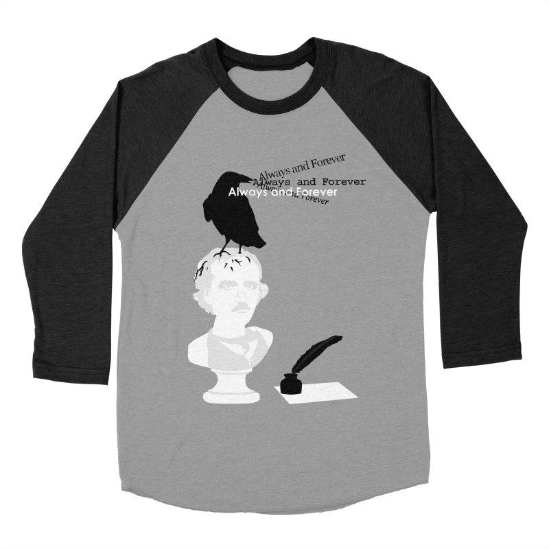 Edgar Allan Poe Men's Baseball Triblend Longsleeve T-Shirt by Alpha Ryan's Artist Shop