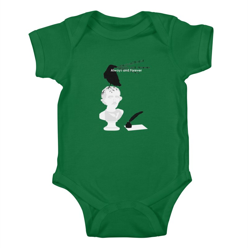 Edgar Allan Poe Kids Baby Bodysuit by Alpha Ryan's Artist Shop