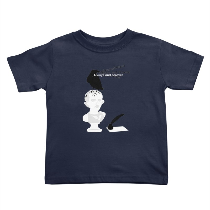 Edgar Allan Poe Kids Toddler T-Shirt by Alpha Ryan's Artist Shop