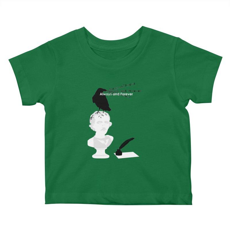 Edgar Allan Poe Kids Baby T-Shirt by Alpha Ryan's Artist Shop