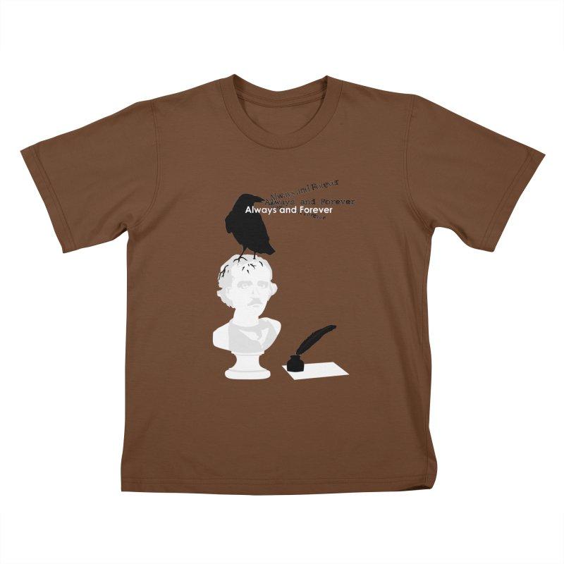 Edgar Allan Poe Kids T-Shirt by Alpha Ryan's Artist Shop
